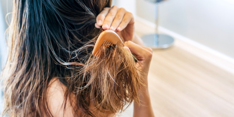 dominican blowout- damaged hair